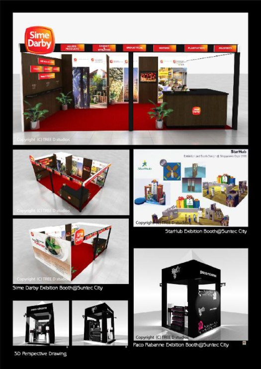 Portfolio-Exibition Booth Design  for Sime Darby, Starhub and Paco Rabanne_TREEDstudios_Exhibition Booths
