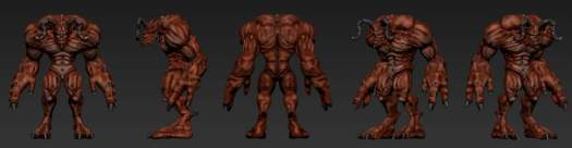 Zbrush digital sculpting using Wacom contiq, Lightwave 3D for rendering and photoshop