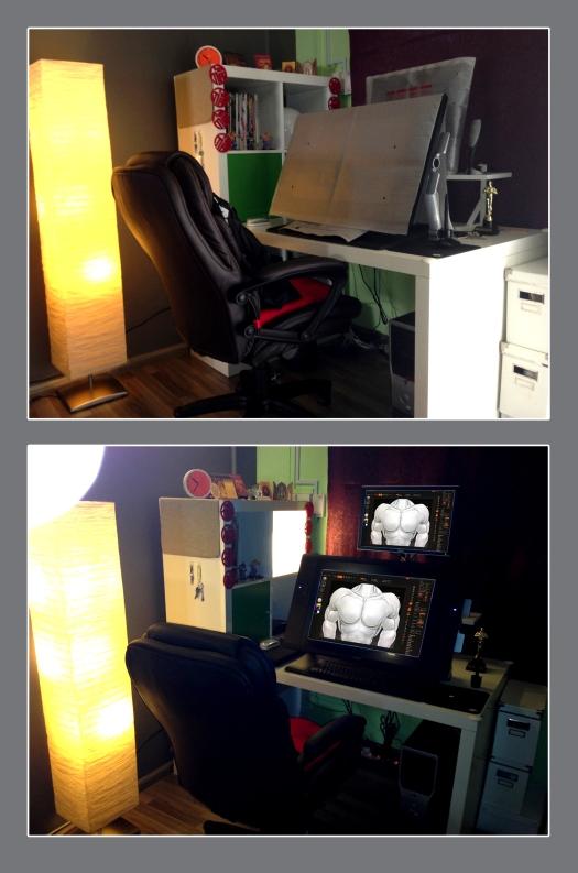 My workstation_Cintiq 24HD for Digital Sculpting
